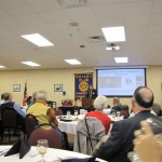 Valentina Escobar-Gonzalez speaking at the Kingsport Rotary Club
