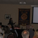 Valentina Escobar-Gonzalez speaking at the Kingsport Rotary Club about Social Media Marketing