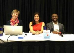 Panel (left to right) Laura Click, M. Valentina Escobar-Gonzalez,Chris Craft,
