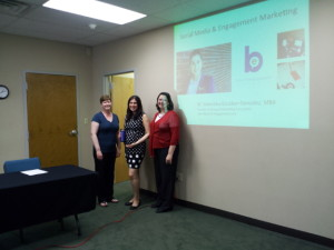 Valentina Escobar-Gonzalez speaking at a local AFP chapter about non profits and social media strategies