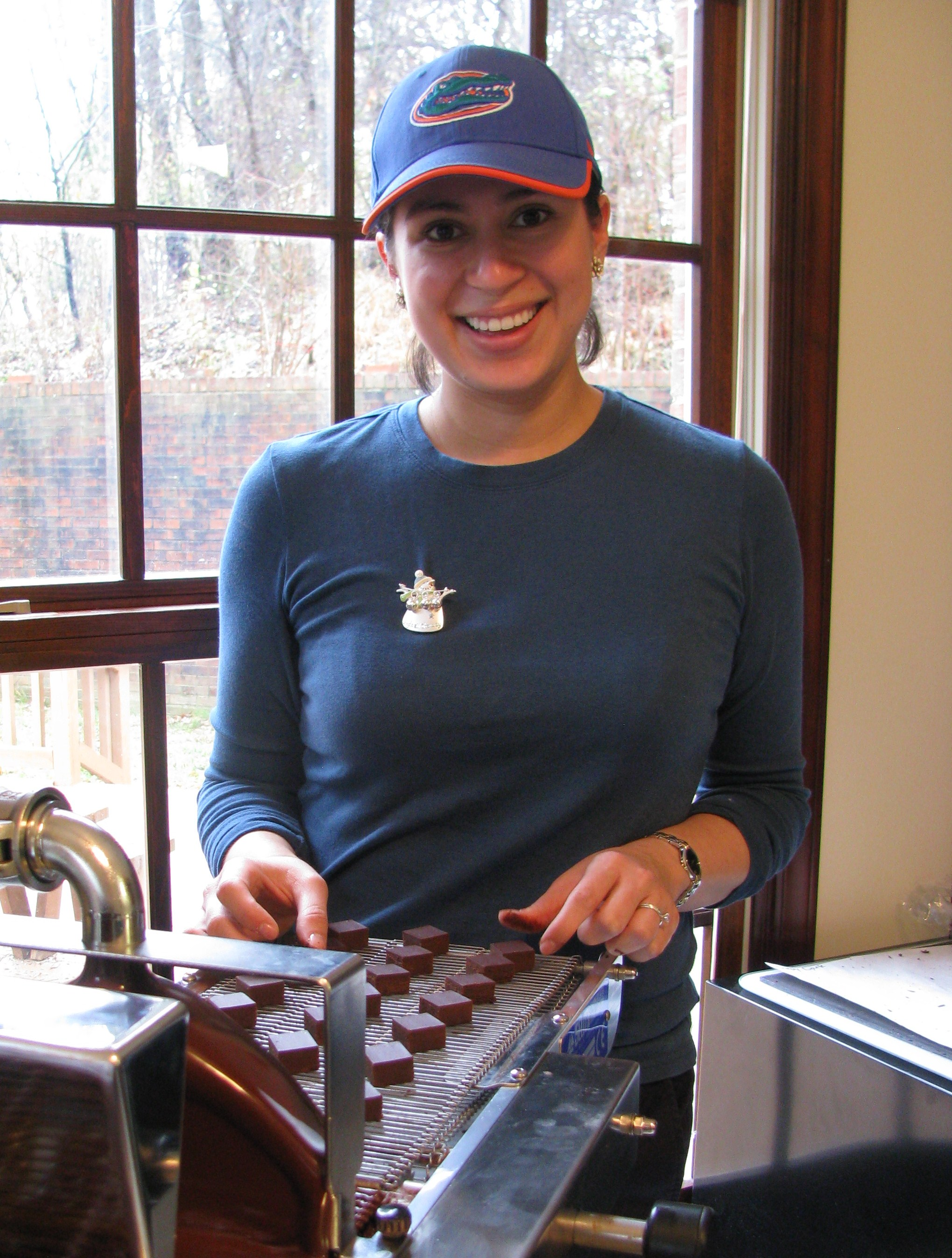 Bellafina Chocolates workshop elf (Valentina)