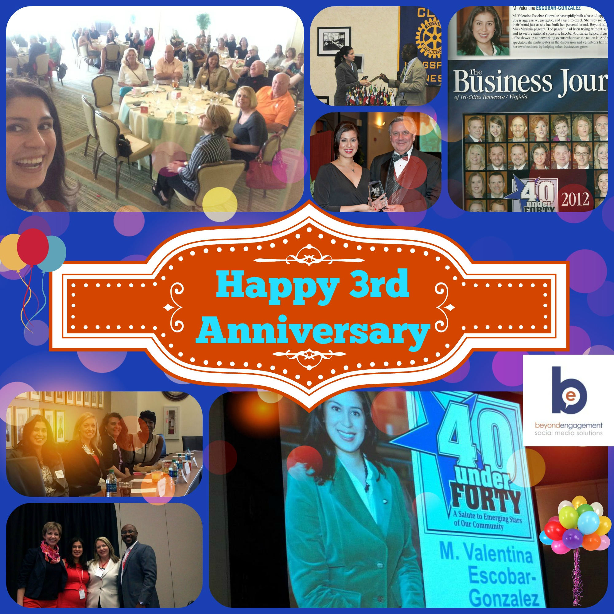 Beyond Engagement - Social Media Solution celebrating three years in Business