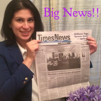 """M. Valentina Escobar-Gonzalez, MBA founder of Beyond Engagement - Social Media Solutions Featured in Kingsport Times-News, """"Facebook is social, but also all business"""""""