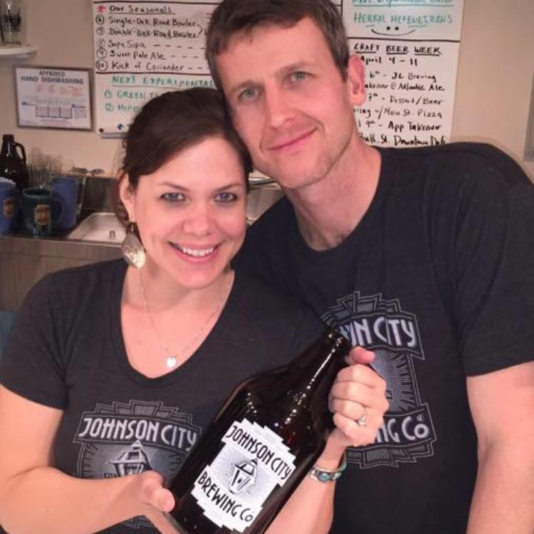 Eric and Kat Latham from Johnson City Brewing Company