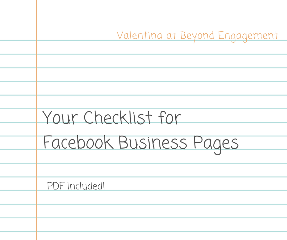Your Checklist for Facebook Business Pages