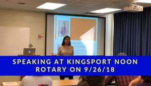 Kingsport Noon Rotary Speaker