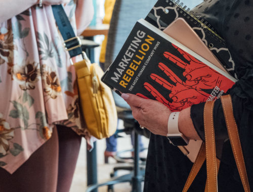 One of my favorite books from 2019, Marketing Rebellion. Photo Credit Laura Beth Davidson Photography.
