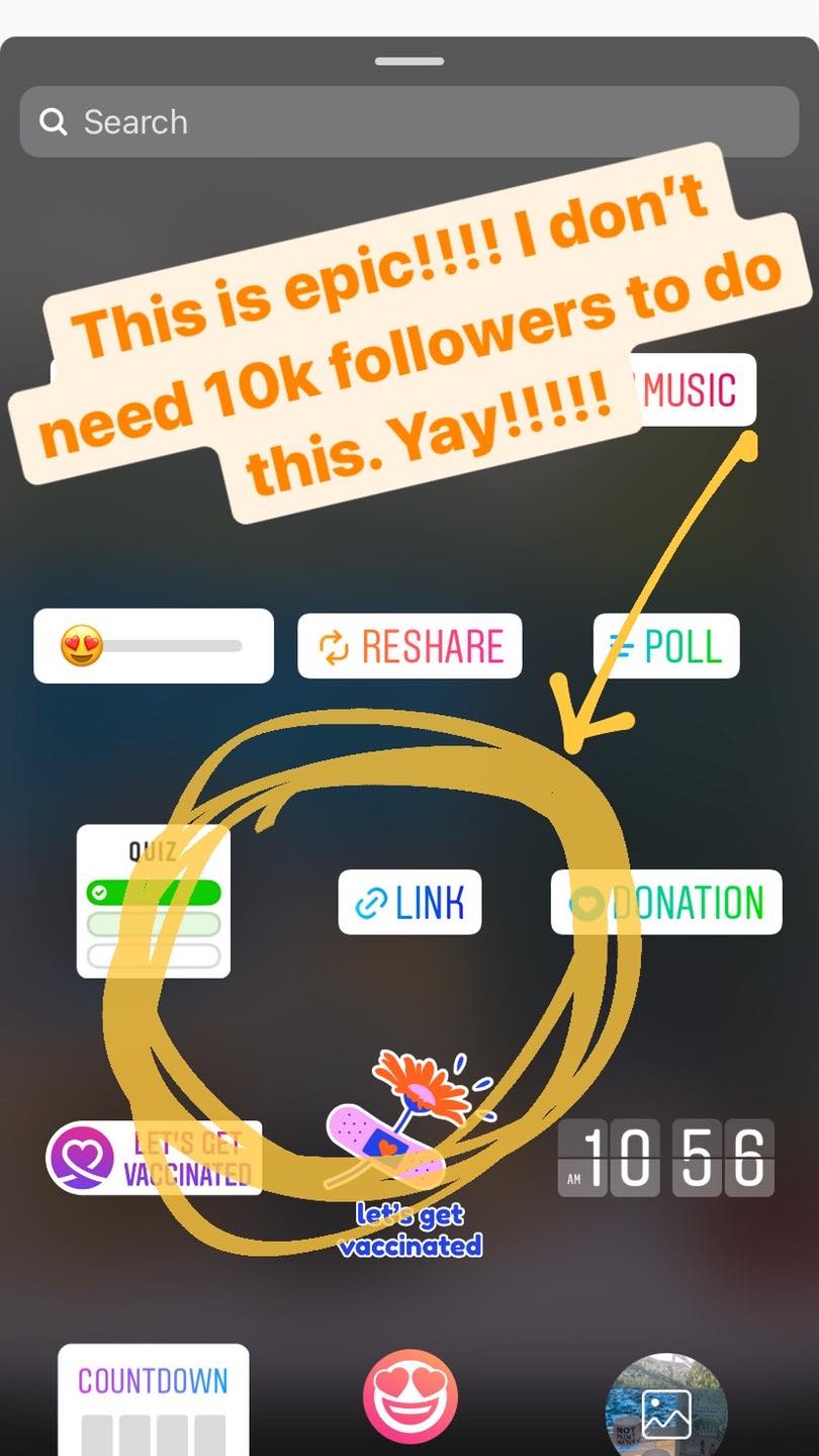 No more swipe up for Instagram Users, now use the sticker to send fans to your link
